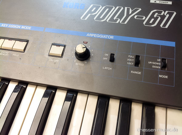 Repair Korg Poly 61 Vintage Analog Synthesizer Reparatur Service