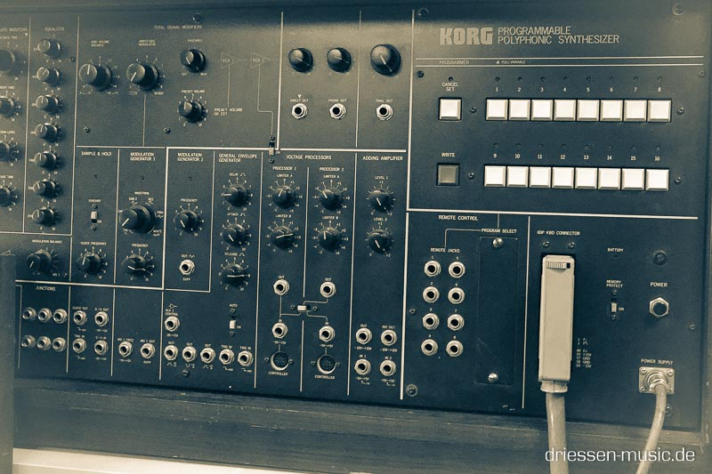 Korg PS3200 Vintage Analog Synthesizer Reparatur Service