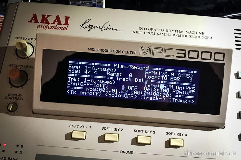 Akai MPC 3000 new Display.